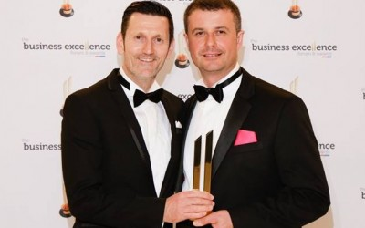Bathroom Boutique wins the Best Customer Service Award at the ActionCoach Business Excellence Conference