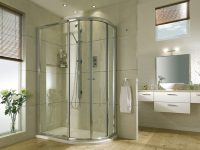 Shower Enclosure Wood Floorboards